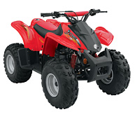 Can-Am DS 90 4-stroke CVT 2007 red quad bike