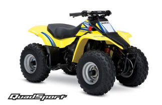 Yellow suzuki quadsport