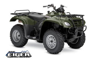 Suzuki Eiger QuadRunner 400 All Wheel Drive Semi Automatic Green