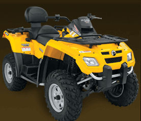 Yellow Can-Am Outlander Max 800 H.O. EFI